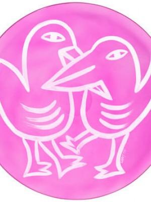 Kosta Boda - Hyllningskollektion - Final Peace Birds green Ulrica Hydman vallien