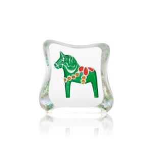 Målerås - Kristall Block - Grön Dalahäst Design Robert Ljubez