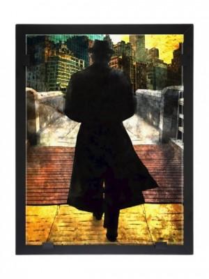 Glasvision - Tavla - Konstglas - Leonard Cohen Design Per Siwmark