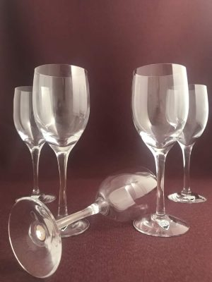 Orrefors - Illusion - 5 st Vit Vins glas Design Nils Landberg