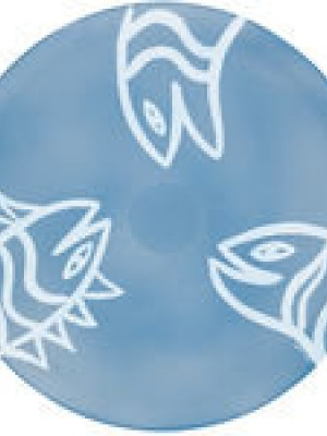 Kosta Boda - Hyllningskollektion - Final Peace Fish Blue Ulrica Hydman vallien