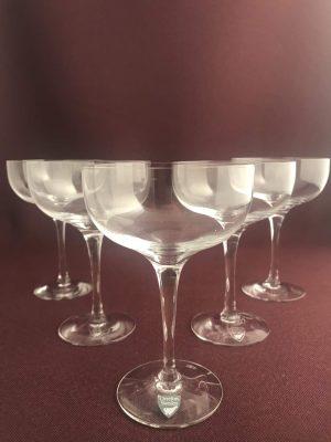 Orrefors - Illusion - 5 st Coupe / Champagne glas Design Nils Landberg