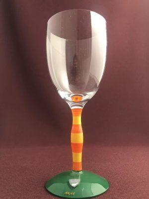 Orrefors - POLKA Clown - Vin glas Design Anne Nilsson