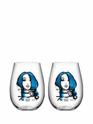 Kosta Boda - 2st Whisky glas - ALL ABOUT YOU - MISS YOU Design Sara Woodrow