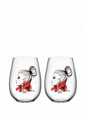 Kosta Boda - 2st Whisky glas - ALL ABOUT YOU WANT YOU Design Sara Woodrow