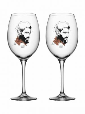 Kosta Boda - 2st Vin glas - ALL ABOUT YOU - WAIT FOR HIM Design Sara Woodrow