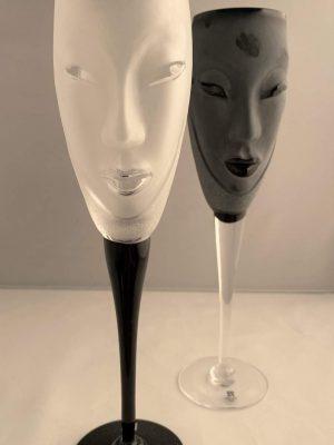 Målerås - Masq Electra - 2 st Champagne glas - Vit design Mats Jonasson
