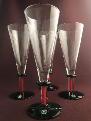 Reijmyre - 4 st - Spirits of Sweden Champagne / Ölglas design Margareta Hennix