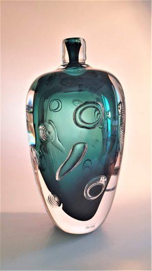 Ulven - Ariel - Unikat - Vas - Grön Design Mikael Erlandsson