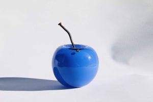 Happy Apples - Magic Blue Limiterat Unikat design Elzbieta Larsten