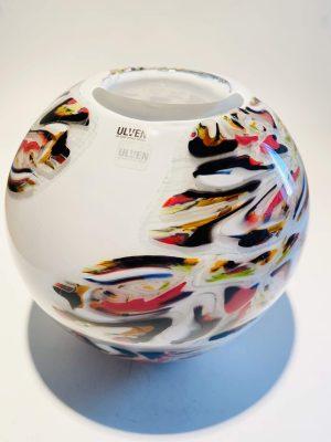Ulven - Multicolour Zebra Konstglas - Unikat Design Stefan Erlandsson