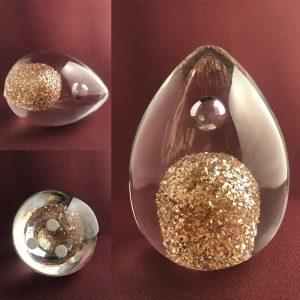 Studio Glashyttan - Golden Mist - Påsk Guld ägg design Lennart Nissmark