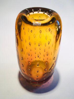 Ulven - Bubbels - Kristall Vas - Bärnsten Design Mikael Erlandsson