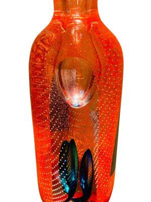 Oldergaard - Konstglas - Fire - Limiterat Unikat design Robert Oldergaard