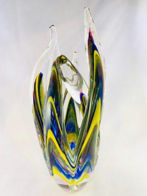 Stockholms Glasbruk Skansen - Unikat - Korall - Konstglas Handgjord på Skansen