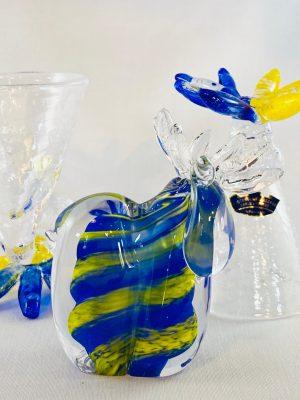 Stockholms Glasbruk Skansen - Midsommar 2 st Snaps & Älg Handgjord på Skansen
