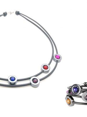 Magnani - Set 3 st Halsband / Armband-/ Örhänge Daniella - multicolor design