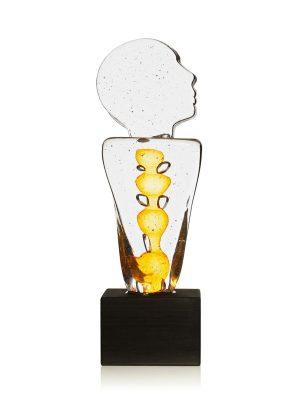 Heta Hyttan - Konstglas - Horisontskådaren 35 cm Hög design Linda Isaksson