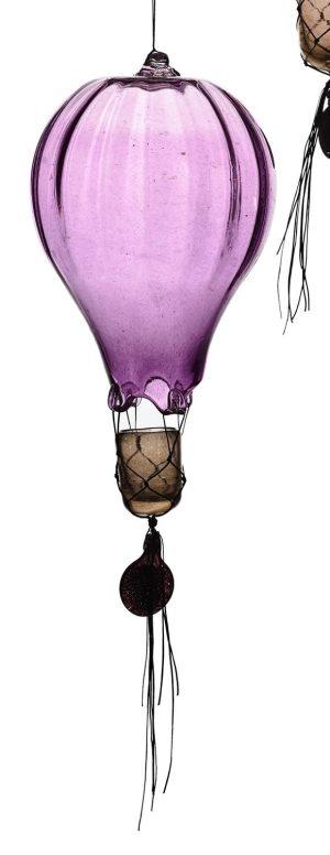 Heta Hyttan - Konstglas - Luftballong Lila 40 cm Hög design Linda Isaksson