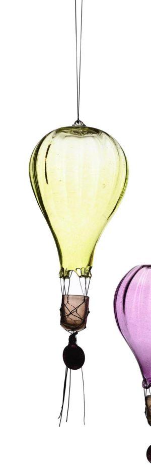 Heta Hyttan - Konstglas - Luftballong Gul 40 cm Hög design Linda Isaksson