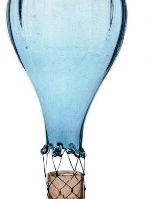 Heta Hyttan - Konstglas - Luftballong Turkos 40 cm Hög design Linda Isaksson