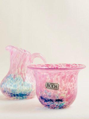Kosta Boda - Miniatyr skål & Kanna Design Ulrica Hydman Vallien