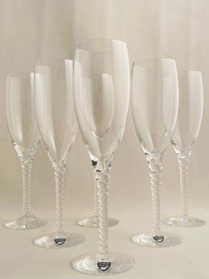 Orrefors - Anne - 4 st Champagneglas / Strut Design Anne Nilsson