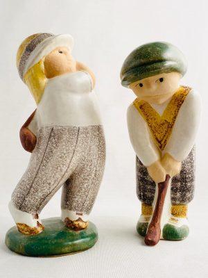 Gustavsberg - Golfspelare - Man & Kvinna design Lisa Larson