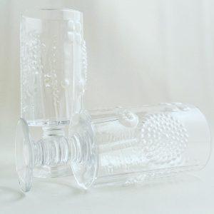 Bröllop / Student present - 2 st Champagne glas / strut från glasprinsen