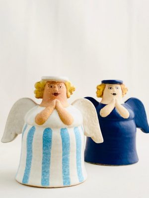 Gustavsberg - 2 st Ljuvliga änglar randig design Lisa Larson