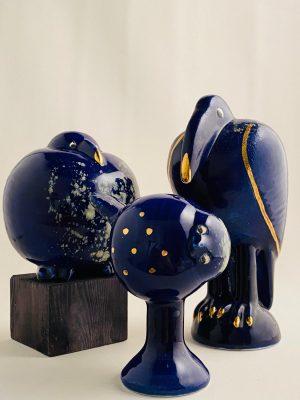 Gustavsberg - Fenix - 3 st Fåglar Fingal , Tekla & Gottfrid design Lisa Larson