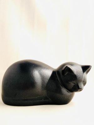Gustavsberg - Figurin - Katten Moses svart design Lisa Larson