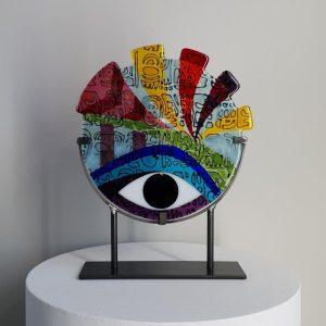 Art By Anne - Naïve - Konstglas Unikat design Anne Felicie Nickels