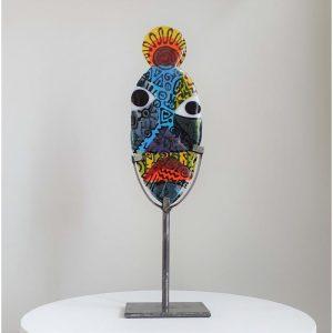 Art By Anne Naïve - African hunter - Ndebele Design Anne Felicie Nickels
