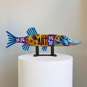 Art By Anne - Fisk Konstglas - Pike Gäddius artefarkt - Anne Felicie Nickels