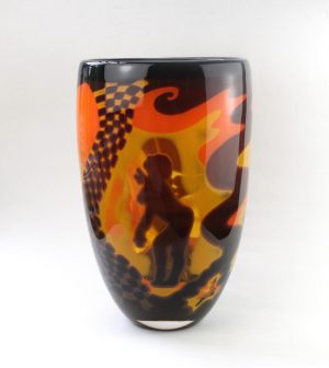 Living Glass - Graal - Sundance - Unikat Konstglas design Marianne Degener