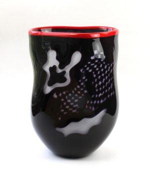 Living Glass - Graal - Splash- Unikat Konstglas design Marianne Degener