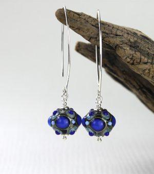 Living Glass - Örhängen - 1 Par Blå / Turkos design Marianne Degener
