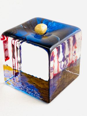 Målerås - Joy Of Life - Kub - Unikat Guldägg Blå Design Jeanette Karsten