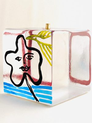 Målerås - Joy Of Life - Kub - Unikat Vin glas Vit Design Jeanette Karsten