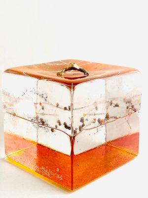 Målerås - Joy Of Life - Kub - Unikat - Guld Groda Design Jeanette Karsten