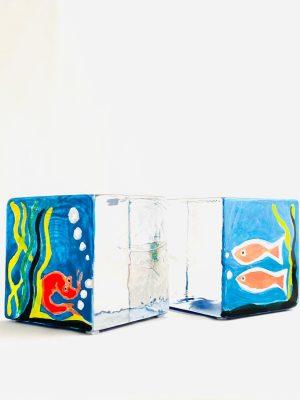 Lindshammar - Joy Of Life - 2 st Kuber - Fisk rom ägg Design Jeanette Karsten