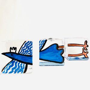 Lindshammar - Joy Of Life - 3 st Kuber - silver ägg Design Jeanette Karsten