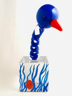 Lindshammar - Joyful Bird - Kub - Blå fågel Design Jeanette Karsten