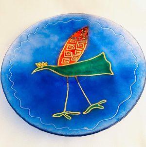 Lindshammar - Green Bird - Stort fat med Bladguld Design Jeanette Karsten