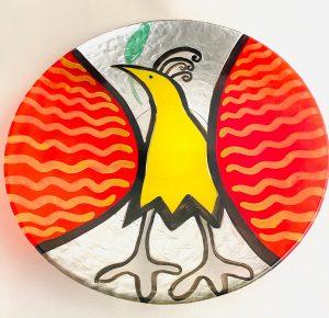 Lindshammar - Fancy Bird - Stort fat 370 mm Diameter Design Jeanette Karsten