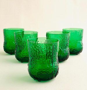 Arabia - Fauna - 5 st Snaps glas Design Oiva Toikka