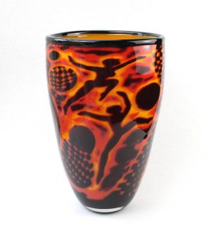 Living Glass - Graal - Cirkus - Unikat Konstglas design Marianne Degener