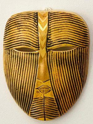 Gustavsberg - Mask- Mytologisk mask Gul / Svart design Lisa Larson