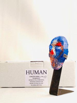 Glasprinsen - Stardust - Human - Nr 51 limiterat 100 Ex design Dennis Lönnetun